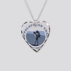 Appalachian Trail -Thru Hiker Necklace Heart Charm